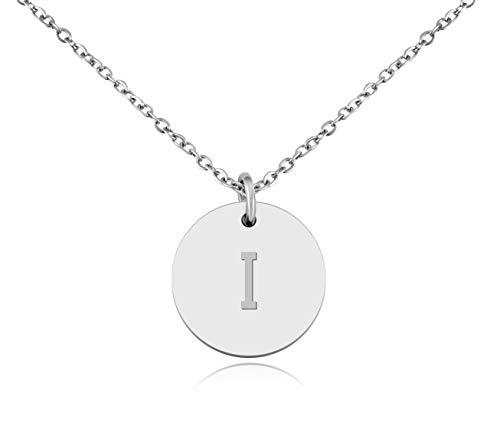 """Nuoli® Kette mit Buchstabe """"I"""" Silber (45cm) hübsche Buchstabenkette für Frauen"""
