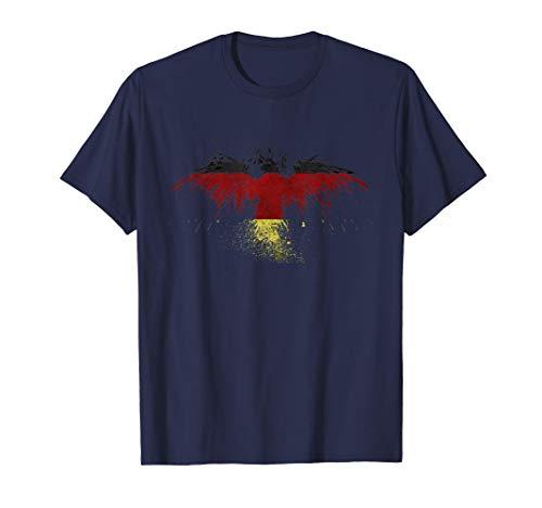 Bundesadler: Deutsche Flagge auf Adler - Wappenvogel Fahne T-Shirt