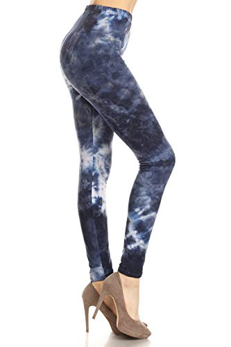 Q542-PLUS(A1010) Divine Mercury Print Fashion Leggings, Plus Size