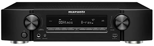 Marantz NR1711 8K Slim 7.2 Channel Ultra HD AV Receiver (2020 Model) – Wi-Fi, Bluetooth, HEOS Built-in, Alexa & Smart Home Automation - 8K HDMI Videos & Multi-Room Streaming