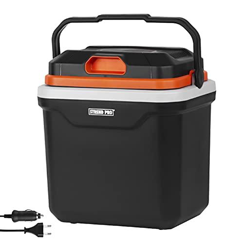 STREND PRO Elektrische Kühlbox 12v/230v/24L Premium für das Auto und Camping, Kühlt und Wärmt-Funktion, SMART PUR Isolierung, Kompressor Kühlschrank/Kühltasche mit ECO Mode - geräuscharm und leicht