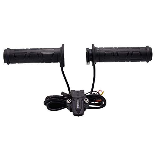 Riosupply - 1 par Universal de Manillar de Motocicleta con calefacción, empuñaduras eléctricas Calientes, para Manillar de Motocicleta, con Fundas y Funda para Motocicleta/Bicicleta/ATV