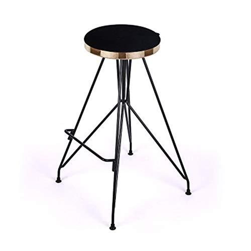 Barhocker Bar High Chair Heim-runde Metallstuhl Küchentheke Hocker Esszimmerstuhl Barhocker für die Küche (Farbe : Six, Size : 46x46x78cm)