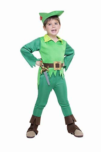 Disfraz Peter Pan Talla 3-4 Años Tamaño Infantil