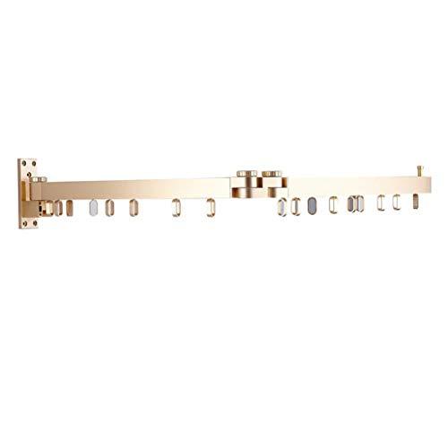 CBXSF Plegado De La Cámara De Secado Balcón Estante Hanging Barra Telescópica Multifuncional Deslizamiento Bastidores Pared De La Ventana, El Oro