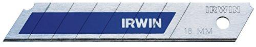 Irwin Blue Blades Bi-Metall Abbrechklinge 18 mm, 50 Stück, Splitterfrei, 10507104
