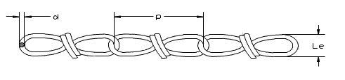 DIN Stahl VERZINKT Gliederkette Lampenkette Kette Deko Garten KNOTENKETTE 1,8mm DIN 5686-20m Knotenkette Dekokette Zierkette Gartenkette DQ-PP