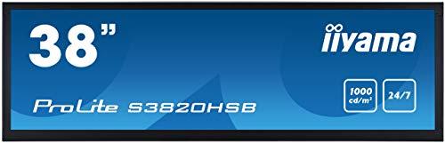 iiyama ProLite S3820HSB B1 965cm 38 MVA LED Digital Signage Stretch Display 1920x540 1645 Format VGA DVI HDMI RS232 inout Mini Jack 247 schwarz