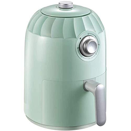 Freidora de aire 2L 800W Temporizador de temperatura ajustable de control de control doble para cocinar sano sin aceite y grasa baja solo adecuada para 1~2 persona WTZ012