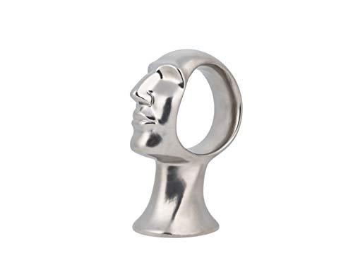 Statuetta decorativa color argento TAXILA