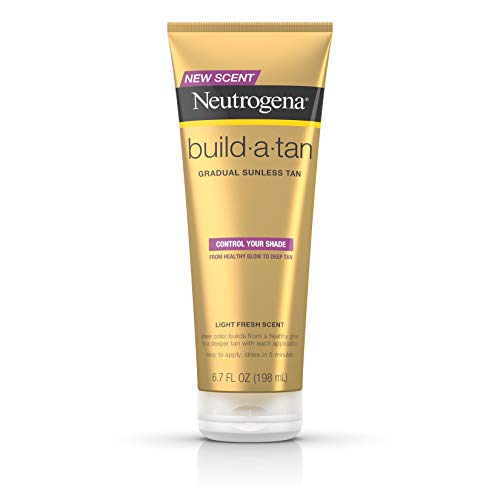 Neutrogena Build-A-Tan Gradual Sunless Tanning Lotion, Lightweight Self-Tanning Body Lotion for a...