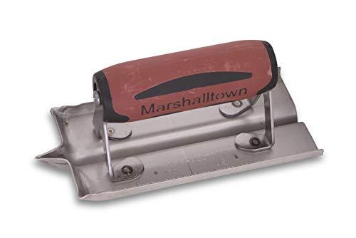 Marshalltown spårfräs - R 6 mm, B 13 mm, T 13 mm med Durasoft-handtag, rostfritt stål, verktyg för golv och betong, storlek: 152x76 mm