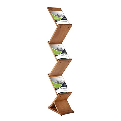 DISPLAY SALES - Expositor de folletos de madera en zigzag (5