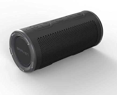 Braven BRV-360 Bluetooth Lautsprecher IP67 Wasserdicht Ideal für Rucksäcke mit 5000 mAh Powerbank - Schwarz