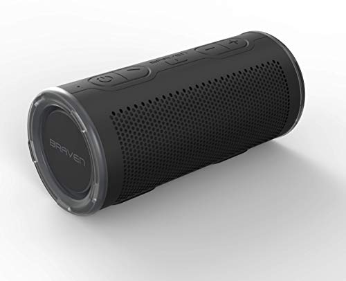 Braven BRV-360 - Waterproof Portable Speaker - Bluetooth Wireless Technology - 360 Degree Speaker - Black