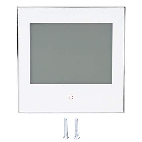 BHT-1000GA 5-35 ℃ Termostato Controlador de temperatura ambiente ± 1 ℃ Precisión Pantalla táctil LCD programable semanal 3A CA 110-230V(blanco)