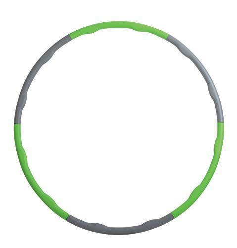 Schildkröt Fitness Fitness-Hoop, Hula-Hoop Ring, Anthrazit-Grün, in 4-Farb Karton, 960035