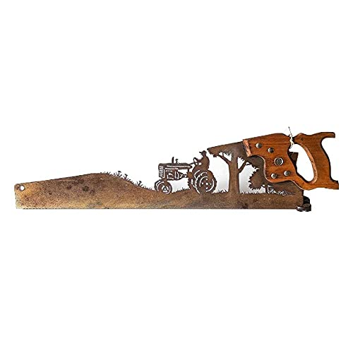 Cut Hand Saw Metal Art, Hand Cut Plasma Metal Art Hand Saw, Vintage Handsaw...