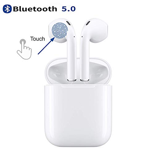 cengxiup Auricolare Bluetooth 5.0, auricolare touch wireless impermeabile, auricolare stereo...