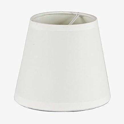 Better /& Best 12 Clip Retor Abat-jour rond en lin avec pince de fixation pour ampoule bougie Cr/ème 12 cm