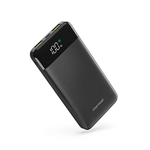 Batterie Externe 10000mAh Charge Rapide Ultra Slim 18W QC 3.0 Power Bank USB C avec l'Ecran LED Batterie Portable Power Delivery Compatible avec iphone 12/11/X/6s Samsung Huawei