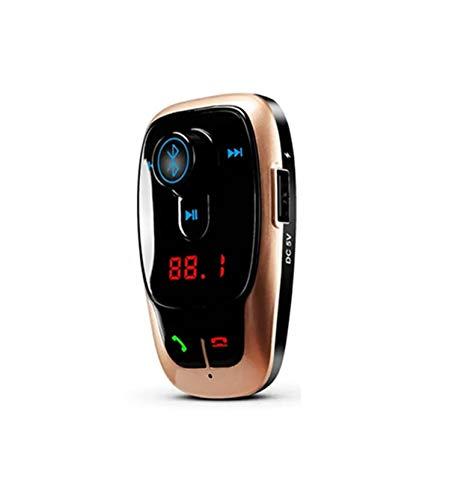YONGYAO Bl106 Car Kit Manos Libres Mp3 Play FM Transimittervs Cargador USB Dual con Función Bluetooth - Dorado