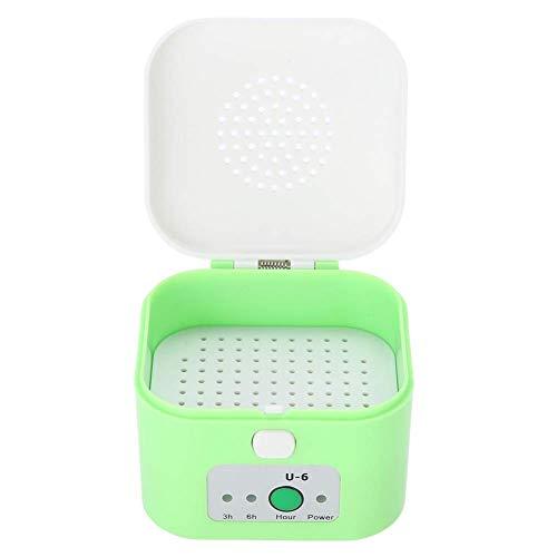 Cestbon El Aparato auditivo secador eléctrico USB Kopfhörerbox, Seca portátil, secador de deshumidificación a Prueba de Humedad, 3,6 Horas Temporizador de Ajuste,Verde