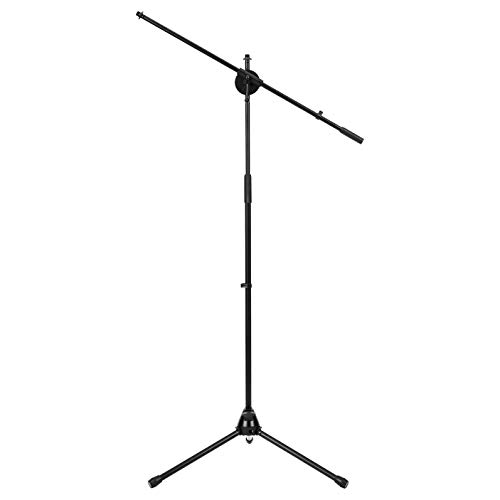AmazonBasics Tripod Boom Microphone Stand - Height-Adjustable with Metal Base - 3.1 - 5.3-Foot