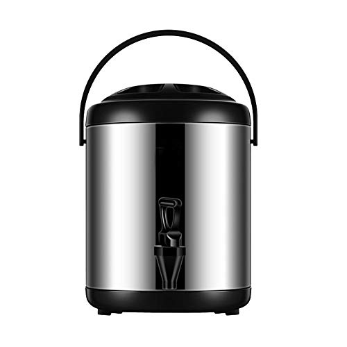 FEOOWV Stainless Steel Insulated Beverage Dispenser 121oz/0.95 Gallon, for Hot and Cold Water,Drink,Coffee,Milk,Fruit Juice (Black)