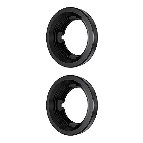 """Abrams 2.5"""" Round Black Rubber Grommet for Universal 2.5 Inch Round Side Marker Clearance Lights for RV Trucks & Trailers - 2 Pack"""