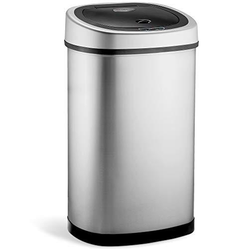 NETTA Kitchen Sensor Bin, 50L Large Touch Free Waste Rubbish Bin - Stainless Steel Silver 50 Litre