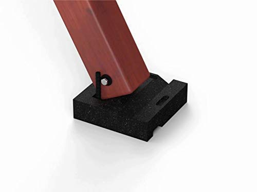 Swing Set Anchor Leveling Kit :: Includes Four Large Molded Rubber Blocks with Stakes and Hardware for Installation