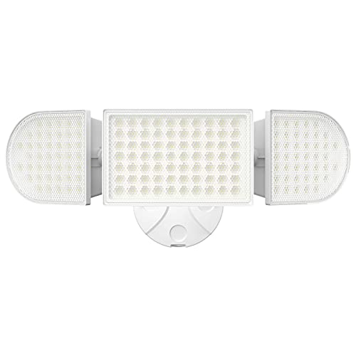 iMaihom 100W LED Security Light, 9000LM Super Bright Outdoor Flood Light, IP65 Waterproof Exterior Floodlight with 3 Adjustable Heads, 6000K Daylight White Wall Light for Yard, Garage, Patio (1 Pack)
