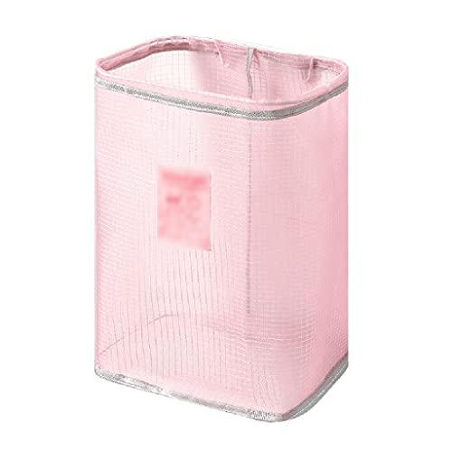 ZHUSHI Cesta de Ropa Sucia cestas de Almacenamiento Cesta de Ropa para el hogar Caja Organizador de bebé Nuevo patrón Cesta de ventilación (Color : Pink)