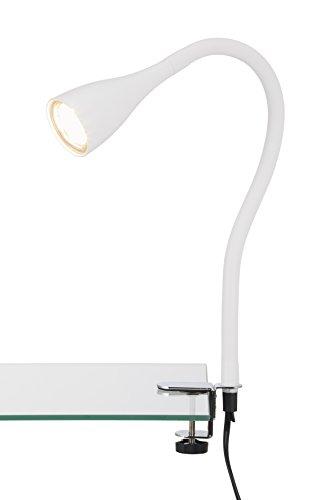 Briloner Leuchten LED Klemmleuchte, Klemmspot, Klemmlampe, Tischleuchte, Anklemmleuchte LED, flexibel