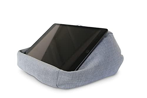 Midas24 iPad Kissen - PadLounge II - Tablet Ständer in Kissenform, Tablet Größe:bis 10.5 Zoll, PadLounge Stofffarbe:Silver