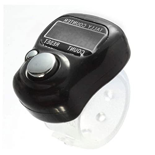 LAANCOO LCD dígitos Dedo Digital electrónico Hand Held Duradero Digitales Herramientas ficha Negra Deportes Contador de la Cuenta
