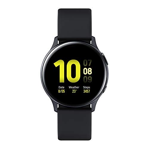 Samsung Galaxy Watch Active2 Smartwatch Bluetooth 40 mm in Alluminio e Cinturino Sport, con GPS, Sensore di Frequenza Cardiaca, Tracker Allenamento, IP68, Nero (Aluminium Black), Versione Italiana