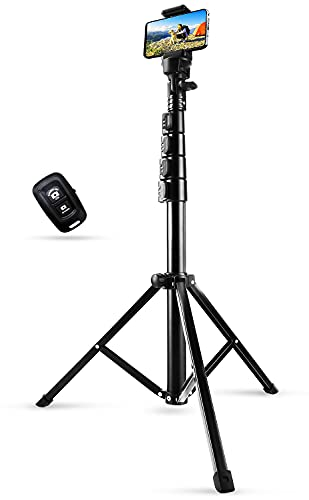 Phone Tripod Stand & Selfie Stick Tripod, Sosirolo 62' All in One Extendable Cell Phone Tripod with Wireless Remote and Phone Holder, Flexible Cellphone Tripod for iPhone/Android/Camera