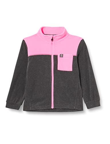Color Kids Baby Fleece Jacket, Striped Chaqueta de Forro Polar para bebé, Phantom, 92 cm Unisex niños