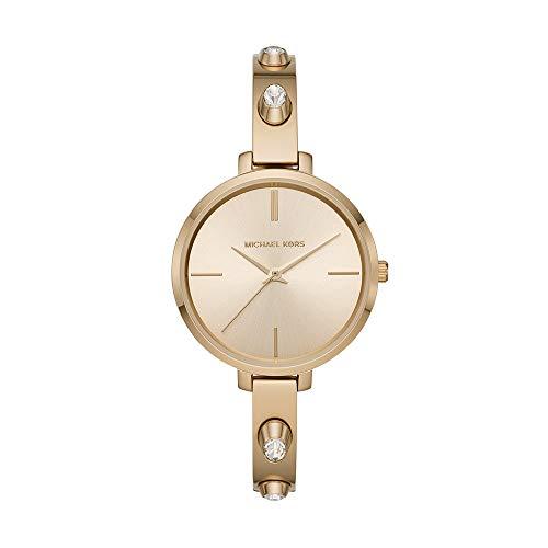 Michael Kors Womens Jaryn Studded Gold Tone Bangle Bracelet 36mm Watch MK4539