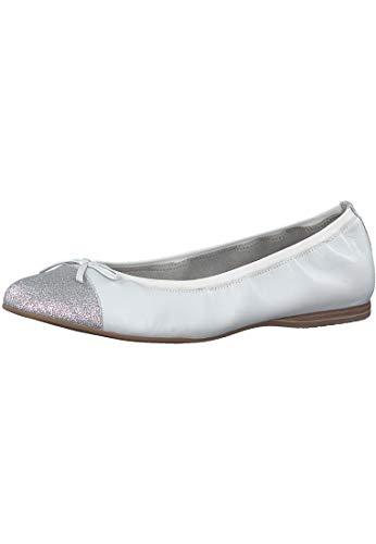 Tamaris Damen Ballerinas Alena 1-1-22129-20-191 weiß 445523