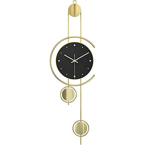 FHTD Reloj de Pared Moderno, silencioso, sin tictac, decorac