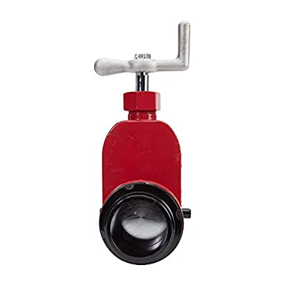 """Red Aluminum 2 1/2"""" Fire Hydrant Gate Valve by FireHoseDirect"""