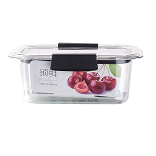 ZQJD, scatola di plastica per frigorifero e alimenti sigillati, scatola di frutta e verdura per conservare frutta e verdura trasparente, 1450 ml