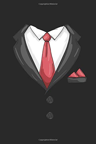 Cravatta Tuxedo Quaderno: maschi Taccuino A5 Pagina Bianca Organizzatore Bloc notes signori notebook divertente Regalo ragazzi libretto con pagine bianche