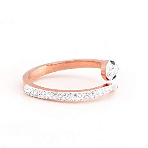 Conjunto de joyería de moda con anillo de serpentina de dia