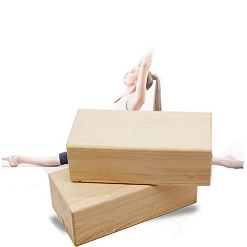 Fitness Pilates - Bloque De Espuma De Yoga, Bamboo Handstand Block No Tóxico Inodoro Resistente Al Agua - 2 U.