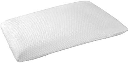 Elite Rest Slim Sleeper - Firm Ultra Thin Memory Foam Pillow, Premium Cotton Cover, Great for Back and Stomach Sleepers, Hypoallergenic - Thin Low Profile, 3 Inches