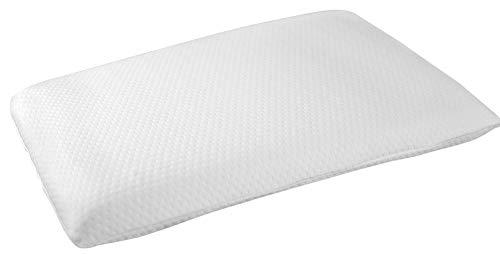 Elite Rest Slim Sleeper - Firm Memory Foam Pillow, Premium Cotton Cover, Great for Back and...